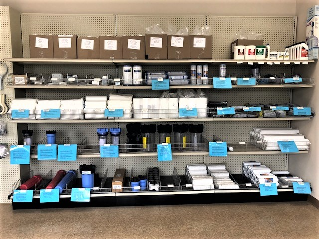 In Store filters and accessories